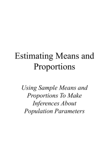Estimating Means and Proportions