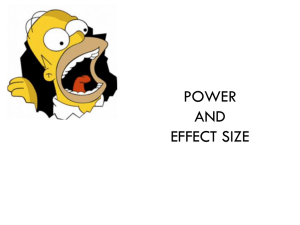 Power & Effect Size