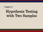 Chapter8: Hypothesis Testing with Two Samples