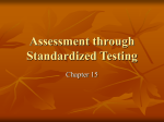 Assessment through Standardized Testing