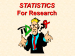 STATISTICS For Research - John C. Fremont High School