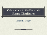 Exercises in the Bivariate Normal Distribution
