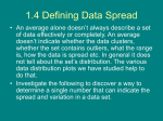 1.4 Defining Data Spread
