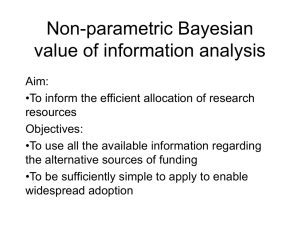 Bayesian value of information analysis [VoI analysis]