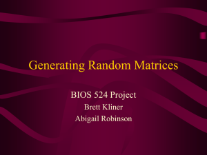 Generating Random Matrices