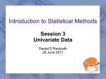 Statistics 101 (An Introduction)