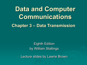 Chapter 3 - William Stallings, Data and Computer Communications