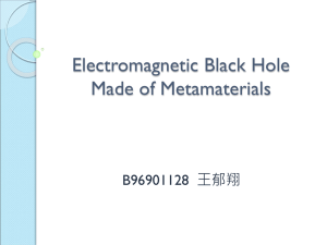 Electromagnetic Black Hole Made of Metamaterials