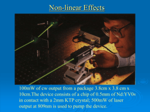 Non-linear Optics