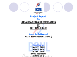 Localization & Rectification of Optical Fiber