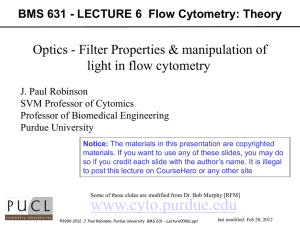 Lecture0006c - Purdue University Cytometry Laboratories