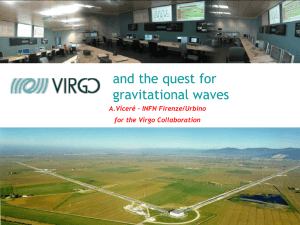 VIRGO status and GW physics