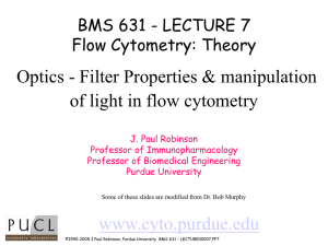 Optics - Filter Properties & manipulation of light in flow cytometry