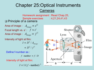 Lecture 25: Optical Instruments