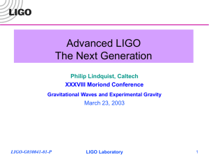 Advanced LIGO—the Next Generation