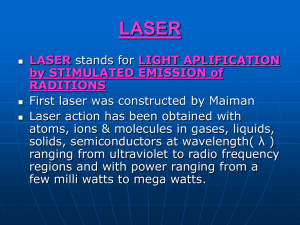 LIGHT APLIFICATION by STIMULATED EMISSION of RADITIONS