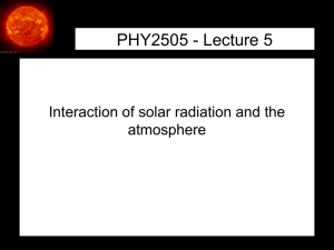PHY2505 Lecture 5 - Atmospheric Physics