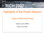 Highlights of the Poster Session - Indico