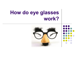 How do eye glasses work? BUT first, let`s review!