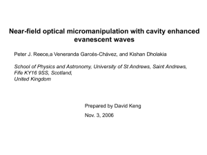 Near-field optical micromanipulation