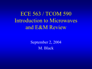 ECE 563 Microwave Engineering