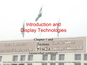 Introduction and Display Technologies