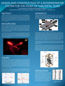 DESIGN AND CONSTRUCTION OF A INTERFEROMETER