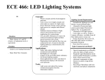 ECE 466: LED Lighting Systems Concepts:  -  Incandescent lightings rise and
