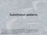 Molecular evolution and substitution patterns.