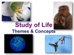 Lecture 001--Themes of Biology