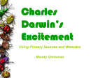 Charles Darwin's Excitement