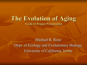 Lecture 8: Life-History Evolution
