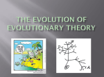 The Evolution of evolutionary theory