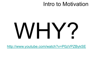 Intro to Motivation