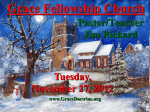 PPT Notes - Grace Fellowship