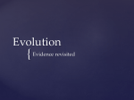 Evidence for evolution ppt evidence for evolution ppt