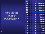 Who WANTED to be a Millionaire ?