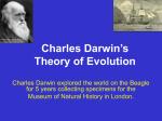 the thory of evolution charles darwin