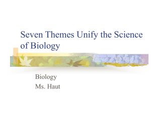 Seven Themes Unify the Science of Biology