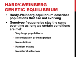 DISRUPTING GENETIC EQUILIBRIUM