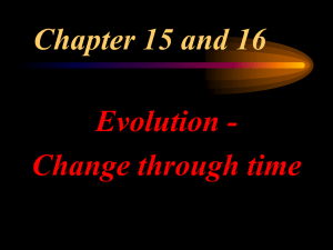 Evolution PowerPoint Lecture Notes
