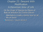 Chapter 22: Descent With Modification A Darwinian View