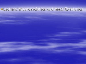 Macroevolution and Mass Extinction powerpoin