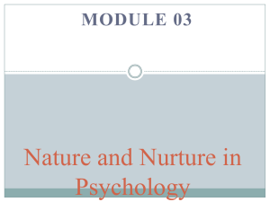 nature and nurture in psychology