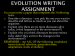 Evolution Writing Assignment