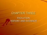 Chapter 4 Evolution: History and evidence