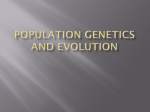Population Genetics and evolution with notes