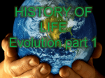 HISTORY OF LIFE Evolution part 1