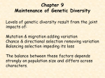 Chapter 9 Maintenance of Genetic Diversity