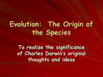Evolution: The Origin of the Species